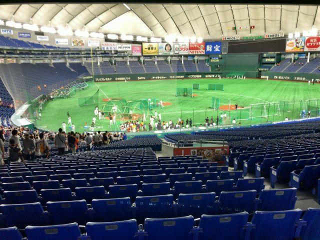 東京ドーム 巨人戦練習見学