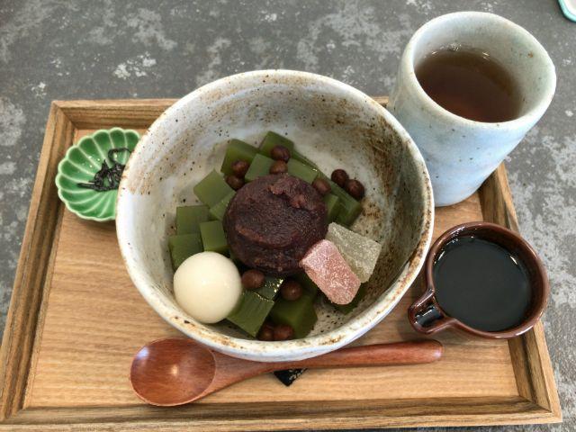 福尾商店 抹茶あんみつ